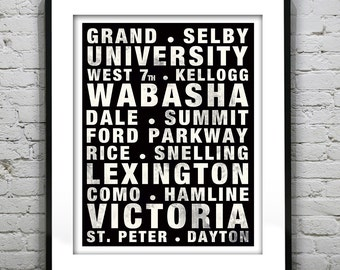 Saint Paul St. Paul Poster Subway Art Minnesota Mn