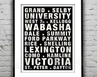 Saint Paul St. Paul Poster Subway Art Minnesota Mn Version 1