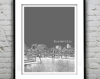 Huntsville Alabama Poster Art Print AL