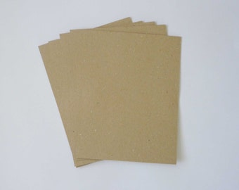 10 Chipboard Pads Eco-Friendly- chipboard sheets, scrapbooking pads, ecofriendly shipping, recycled shipping, Kraft die cuts