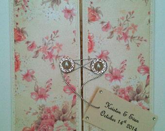 "Vintage Rose Wedding Invitation ""Constance"" Bespoke Hand Made"