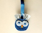 Owl Pacifier Clip, Boy and Girl Infant Binki Clip, Baby Soother Clip, Binki Holder, Teething Ring Clip, Soother Clasp