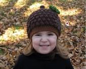 Acorn, Pinecone Beanie Hat, Newborn, Baby, Toddler, Child, Costume, Autumn, Winter, Warm, Prop, Fall