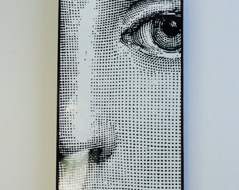 Iphone 5 5s 4s 5c SG 5 lady woman girl  black white  mobile cell phone cover snap case