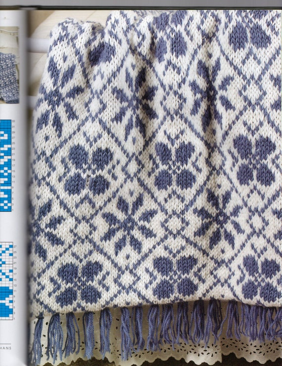 Knitted Bib Patterns : Knitting Pattern Big Needle Knit Afghans by by RedbudCottage