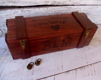 Wedding Wine Box, Custom Wine Box, Personalized Wine Box, Love Letter Ceremony Box, Rustic Wine Box, Anniversary Wine Box, Bride and Groom
