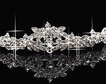 Rhinestone Tiara 002 - Bridal Tiara - Tiara - Bridal Headband
