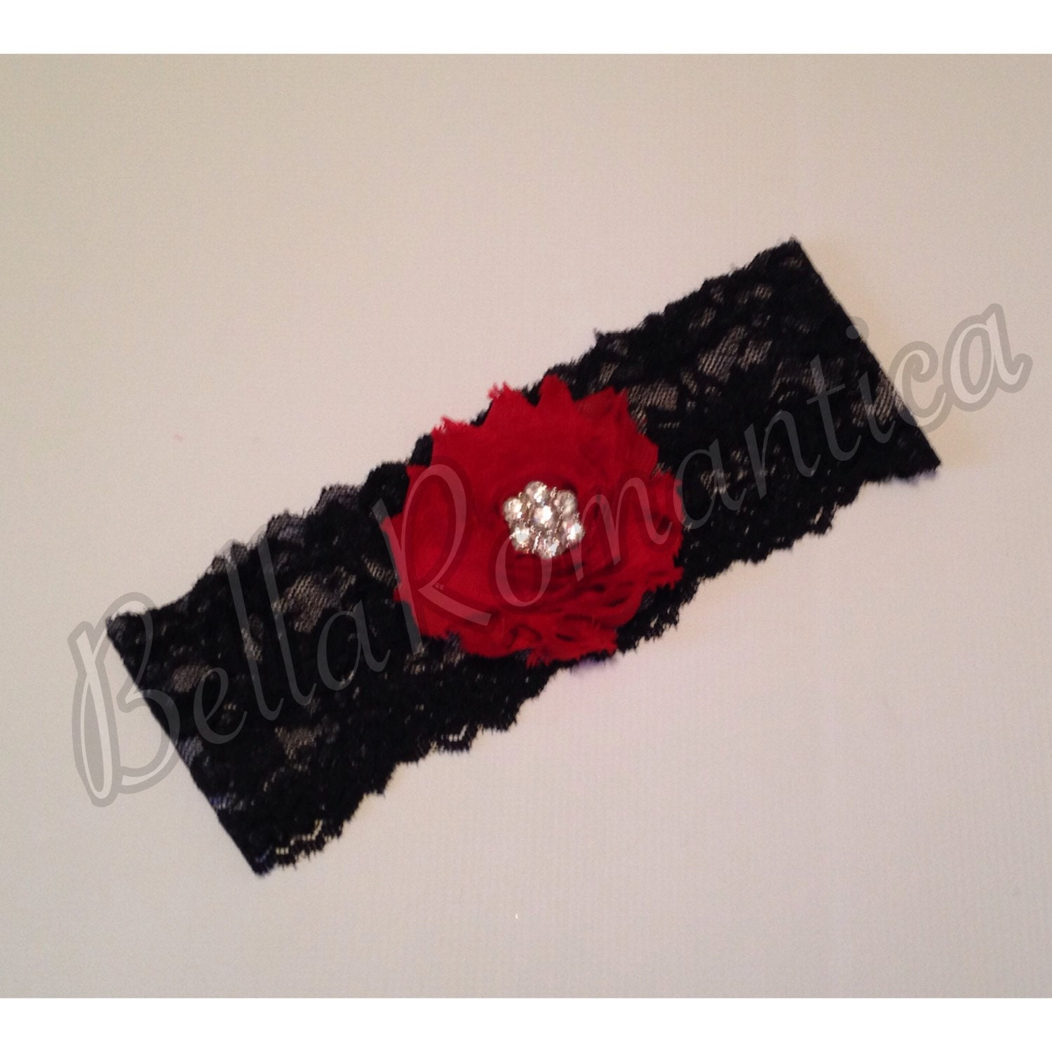 Red Wedding Garters: Red And Black Garter Wedding Garter Red And Black Wedding