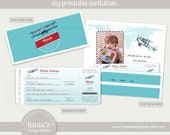 Time Flies Airline Ticket Birthday Invitation by tania's design studio