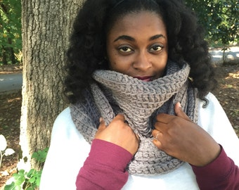 The Midwesterner: Chunky Infinity Scarf/ Hooded Scarf