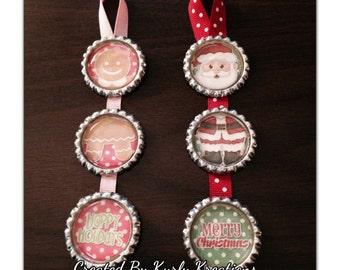 Holiday Bottle Cap Ornaments