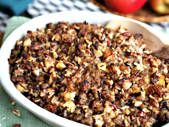 Wild Apple Pecan Rice Mix, Wild Rice Stuffing, Wild Rice & Apple Pecan ...
