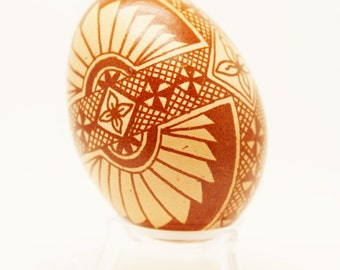 Pysanky, Fans and Flowers, Maran Chicken Egg, Etched Egg, Chicken Egg