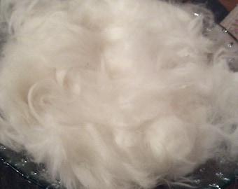 1 oz White Angora Wool