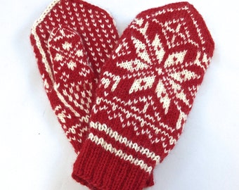 Norwegian Knit Mittens