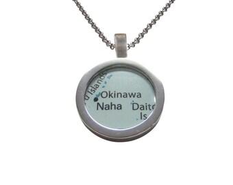 Okinawa Japan Map Pendant Necklace