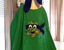 Ninja Turtle Blue Leonardo Childs Superhero Cape and Mask