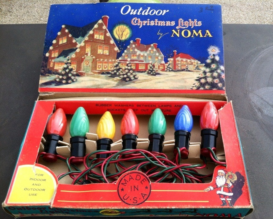 vintage outdoor christmas lights by noma old fashioned