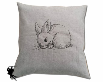 Bunny // Linen Cushion