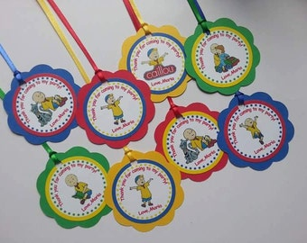 Caillou Favor Tags