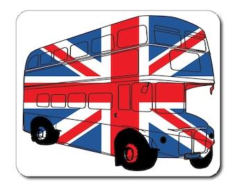 Best of British London Bus Union Jack Mouse Mat Mouse Pad