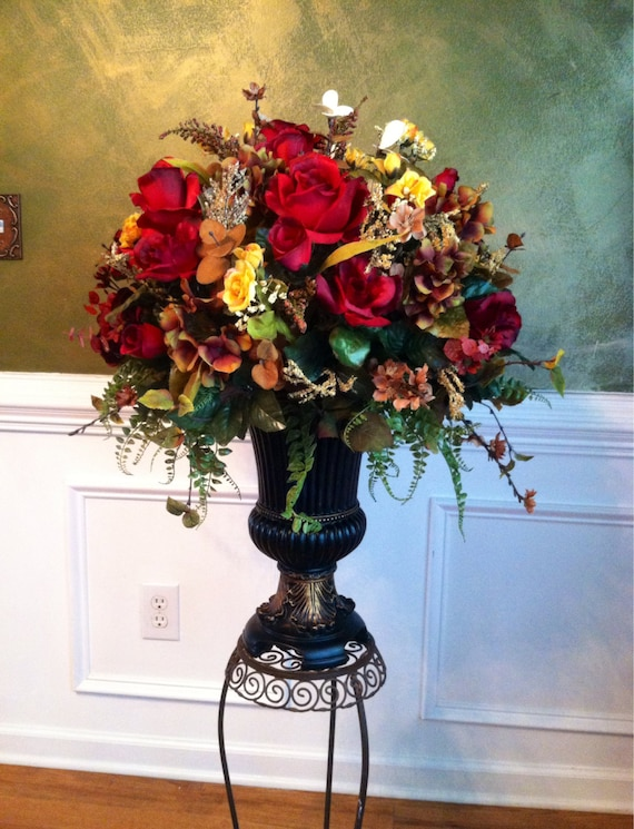 Elegant traditional floral arrangement large by for Foyer flower arrangement