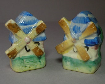 Windmill Salt & Pepper Shakers