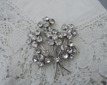 1950's diamante brooch