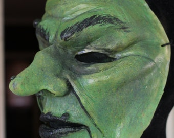 Old Witch/Hag Costume Mask - Halloween Latex Mask