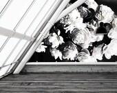 "Dark Floral Mural, Floral Wallpaper, Still Life Flowers Painting - 150"" x 108"""