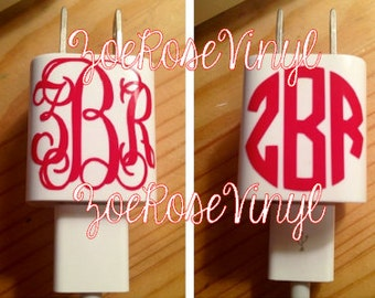 "1"" iPhone Charger Monogram (Interlocking or Circle)"