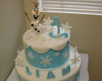 Olaf fondant cake topper