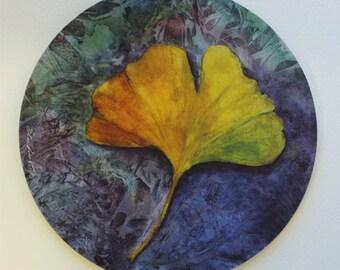 Ginkgo Leaf Fine Art Mouse Pad Original Watercolor