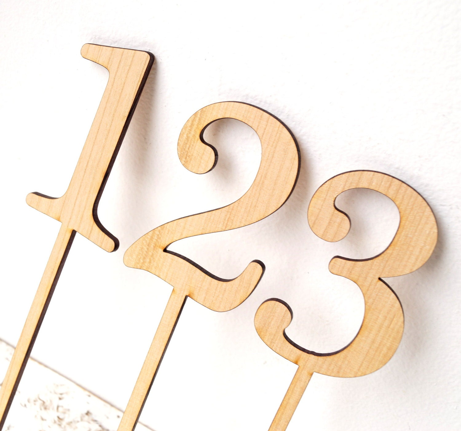 Wooden table number wedding table numbers rustic table for Table numbers