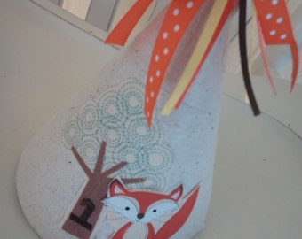 Woodland Creature Birthday Hat