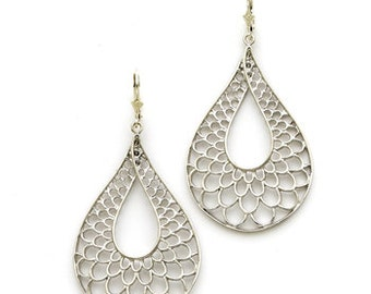 Sterling Silver teardrop earrings.
