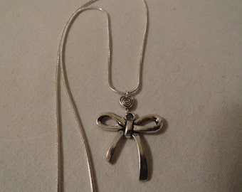 Feminine Girly Bow Necklace Cross Necklace