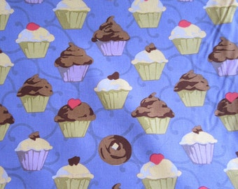 Cupcakes in Purple by Martha Negley for Rowan Fabrics One Yard