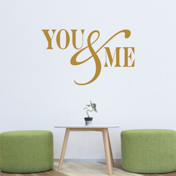 Me and You Wall Decal by MirrorIn