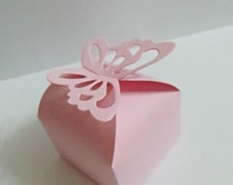 Butterfly Wedding Favor Box - 50pcs