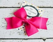 Dark Pink Hair Bow, Pink Hairbow, Shocking Pink Hair Bow, Pink Hair Clip, Toddler Hair Bow, 5 Inch Hair Bow, Baby Hair Bow, Infant Hair Bow