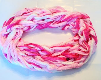My Valentine Infinity Scarf - Arm Knitted