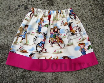Girl's Cowgirl Skirt. Cowgirl Skirts for Kids. Children Skirt in All Sizes: 6 Months_8