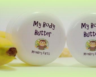 Body Butter - Monkey Farts Body Butter - Monkey Farts Lotion - Monkey Farts Body Lotion - Banana Body Butter - Strawberry Banana Lotion