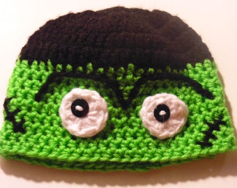 Frankenstein Beanie Hat, Halloween Hats, Fall/Winter Hats, Costume Hats, Men's/Boy's Hats, Baby Hats