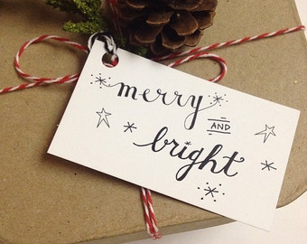 "20 ""Merry & Bright"" Gift Tags"