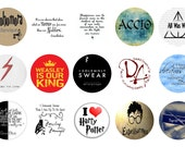 HARRY POTTER 1 Inch Circle Collage Sheet, Digital Instant Download, Printable 15 images I love Harry Potter