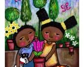 Children Nursery African American Art