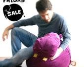 Purple Hippopotamus bean bag