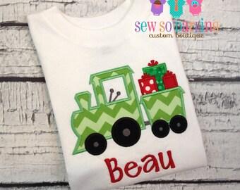 Baby Boy Christmas Outfit - Christmas Train Shirt - Toddler Christmas Shirt - Christmas Train Shirt